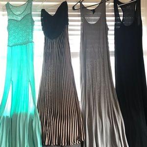 Four women's maxi dresses